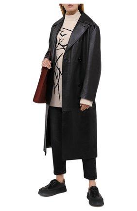 Женский шерстяной пуловер KENZO кремвого цвета, арт. FA65MPU523RA | Фото 2