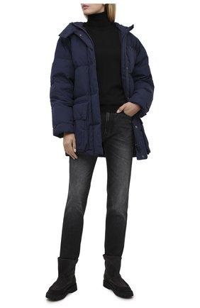Женский пуховая куртка KENZO темно-синего цвета, арт. FA620U0671NE | Фото 2