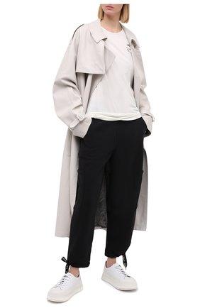 Женская хлопковая футболка 5PREVIEW белого цвета, арт. X423 | Фото 2