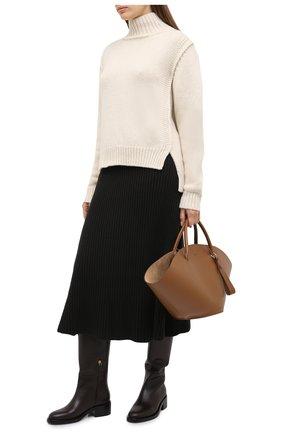 Женские кожаные сапоги valentino garavani supervee VALENTINO коричневого цвета, арт. UW0S0AI0/AXA   Фото 2