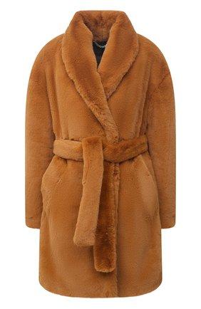 Женская шуба из экомеха RAG&BONE коричневого цвета, арт. WAW20F2025LQ25 | Фото 1