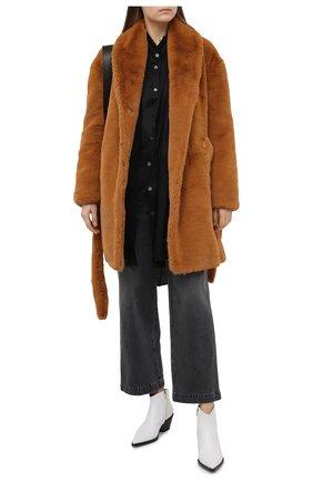 Женская шуба из экомеха RAG&BONE коричневого цвета, арт. WAW20F2025LQ25 | Фото 2