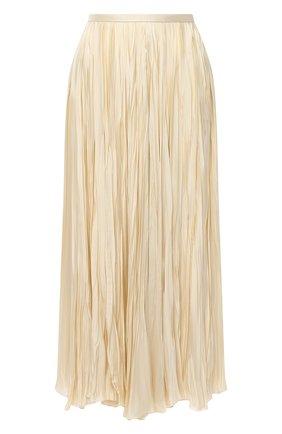 Женская юбка из вискозы JIL SANDER кремвого цвета, арт. JSWR355606-WR392002   Фото 1