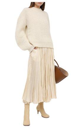 Женская юбка из вискозы JIL SANDER кремвого цвета, арт. JSWR355606-WR392002   Фото 2
