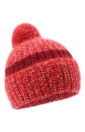 Женский шерстяная шапка GOLDEN GOOSE DELUXE BRAND красного цвета, арт. GWP00366.P000169 | Фото 1