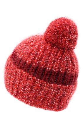 Женский шерстяная шапка GOLDEN GOOSE DELUXE BRAND красного цвета, арт. GWP00366.P000169 | Фото 2