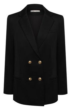 Женский шерстяной жакет ALICE + OLIVIA черного цвета, арт. CC008214202 | Фото 1