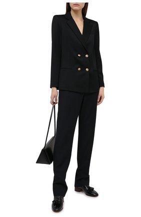 Женский шерстяной жакет ALICE + OLIVIA черного цвета, арт. CC008214202 | Фото 2