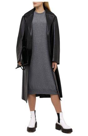 Женское платье из шерсти и кашемира MRZ серого цвета, арт. FW20-0147 | Фото 2