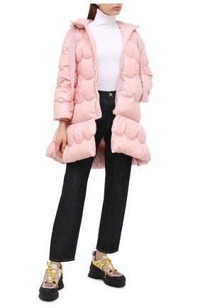 Женский пуховик REDVALENTINO светло-розового цвета, арт. UR0CP00E/5L5 | Фото 2