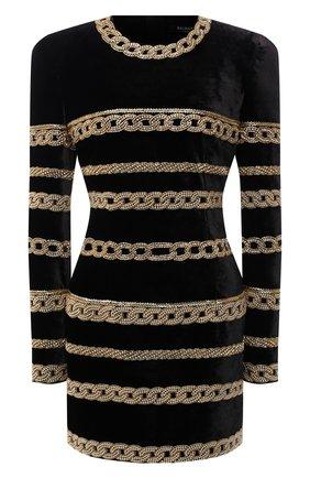 Женское платье BALMAIN черного цвета, арт. UF06378/P059 | Фото 1