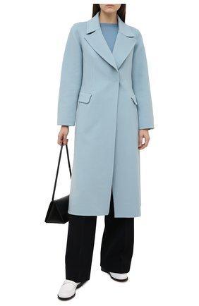 Женское шерстяное пальто OSCAR DE LA RENTA голубого цвета, арт. 20PN809DBW | Фото 2