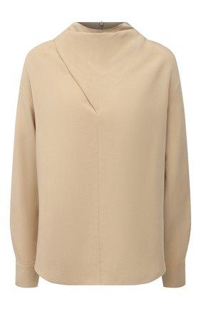 Женская блузка из вискозы VINCE бежевого цвета, арт. V693312412 | Фото 1