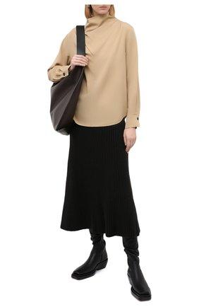 Женская блузка из вискозы VINCE бежевого цвета, арт. V693312412 | Фото 2