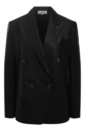 Женский кожаный жакет VINCE черного цвета, арт. V689991308 | Фото 1