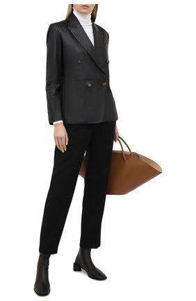 Женский кожаный жакет VINCE черного цвета, арт. V689991308 | Фото 2