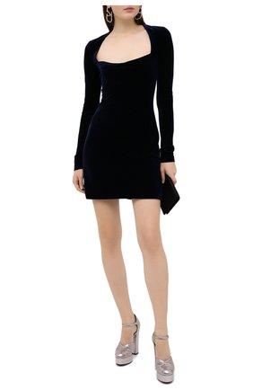 Женское платье GALVAN LONDON темно-синего цвета, арт. CD1061 VELVET | Фото 2