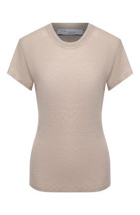Женская льняная футболка IRO бежевого цвета, арт. WP19THIRD | Фото 1