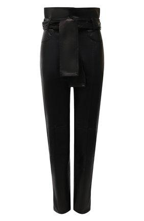 Женские кожаные брюки IRO черного цвета, арт. WM23ELDRED | Фото 1