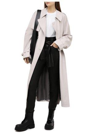 Женские кожаные брюки IRO черного цвета, арт. WM23ELDRED | Фото 2