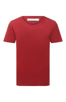 Женская льняная футболка IRO красного цвета, арт. WM19LUCIANA | Фото 1