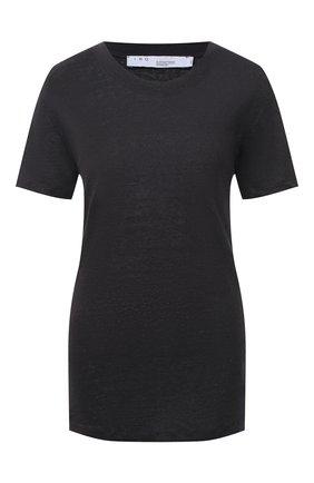 Женская льняная футболка IRO темно-синего цвета, арт. WM19LUCIANA   Фото 1