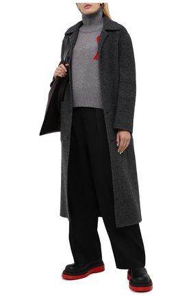 Женские шерстяные брюки AMI черного цвета, арт. H20FT400.242 | Фото 2