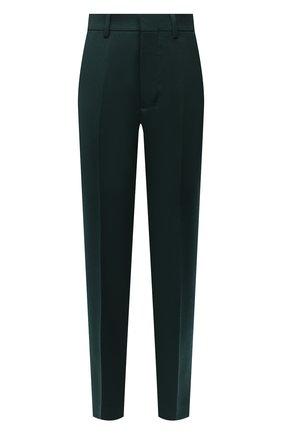 Женские шерстяные брюки AMI зеленого цвета, арт. H20FT004.242 | Фото 1