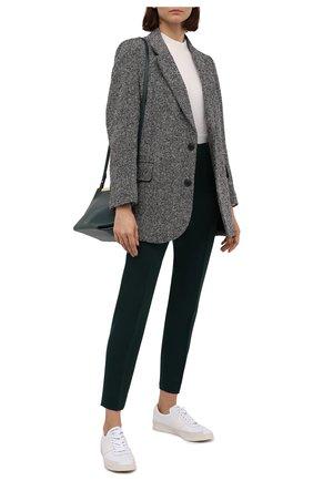 Женские шерстяные брюки AMI зеленого цвета, арт. H20FT004.242 | Фото 2