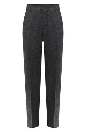 Женские шерстяные брюки AMI серого цвета, арт. H20FT004.200 | Фото 1