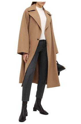 Женские шерстяные брюки AMI серого цвета, арт. H20FT004.200 | Фото 2
