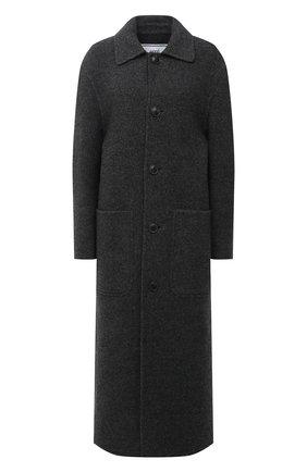 Женское шерстяное пальто AMI серого цвета, арт. H20FM007.252 | Фото 1