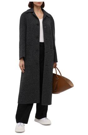 Женское шерстяное пальто AMI серого цвета, арт. H20FM007.252 | Фото 2