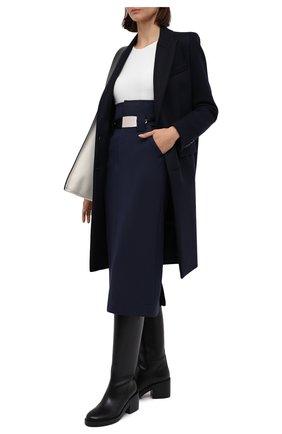 Женское пальто AMI темно-синего цвета, арт. H20FM004.224 | Фото 2