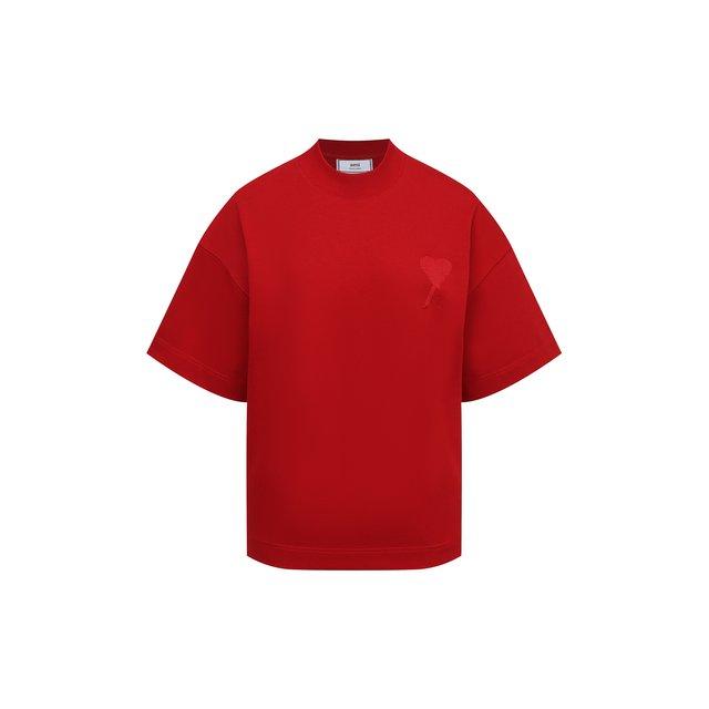 Хлопковая футболка Ami