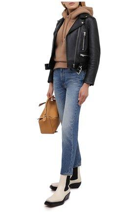 Женские джинсы AMI синего цвета, арт. H20FD010.601 | Фото 2