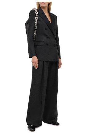 Женский шерстяной жакет RACIL серого цвета, арт. RS11-J05-CAMBRIDGE FLANNEL/SATIN | Фото 2