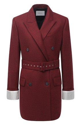Женский шерстяной жакет RACIL красного цвета, арт. RS11-J06-FARRAH W00L | Фото 1