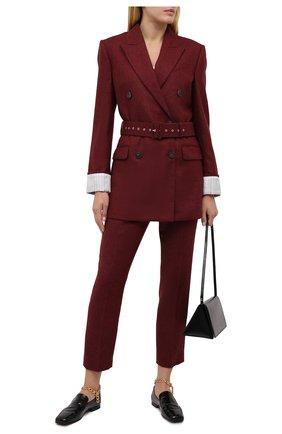 Женские шерстяные брюки RACIL красного цвета, арт. RS11-P05-0SCAR W00L | Фото 2