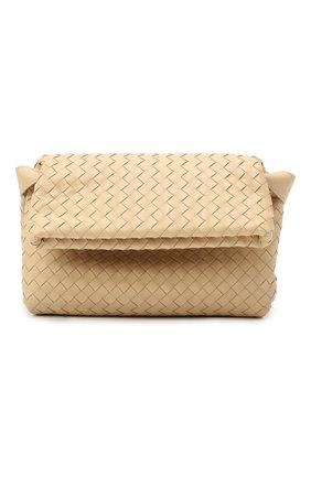 Женская сумка bv fold small BOTTEGA VENETA светло-бежевого цвета, арт. 642637/V08Z1 | Фото 1
