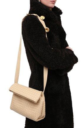 Женская сумка bv fold small BOTTEGA VENETA светло-бежевого цвета, арт. 642637/V08Z1 | Фото 2