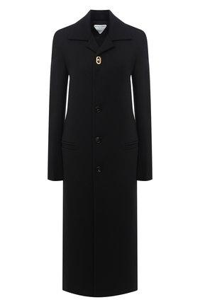 Женское шерстяное пальто BOTTEGA VENETA черного цвета, арт. 640816/V0400 | Фото 1