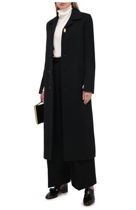 Женское шерстяное пальто BOTTEGA VENETA черного цвета, арт. 640816/V0400 | Фото 2