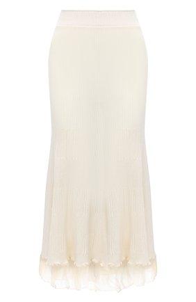 Женская юбка JIL SANDER белого цвета, арт. JSWR754320-WRY21208   Фото 1