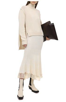 Женская юбка JIL SANDER белого цвета, арт. JSWR754320-WRY21208   Фото 2