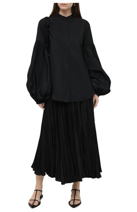 Женская блузка JIL SANDER черного цвета, арт. JSWR605306-WR442200 | Фото 2