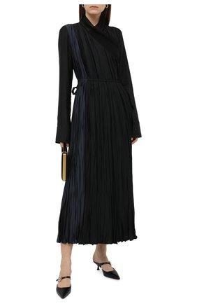 Женское платье из вискозы JIL SANDER черного цвета, арт. JSWR505656-WR392002C | Фото 2