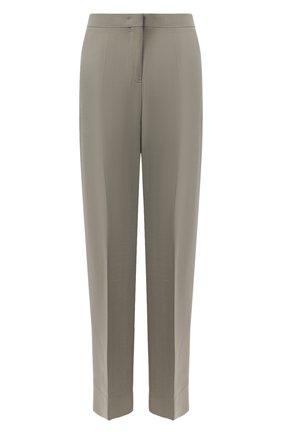 Женские шерстяные брюки JIL SANDER зеленого цвета, арт. JSWR306705-WR201100 | Фото 1