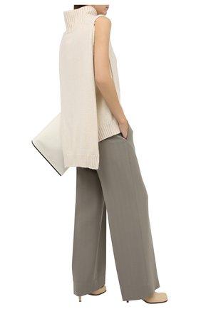 Женские шерстяные брюки JIL SANDER зеленого цвета, арт. JSWR306705-WR201100 | Фото 2