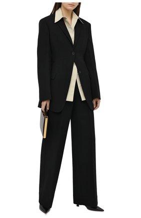Женские шерстяные брюки JIL SANDER черного цвета, арт. JSWR306705-WR201100   Фото 2